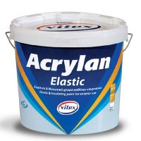Ελαστομερές στεγανωτικό χρώμα Acrylan Elastic 9λιτ