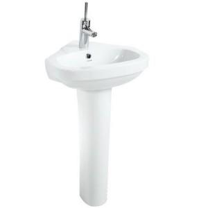 Νιπτήρας πορσελάνης μπάνιου γωνιακός